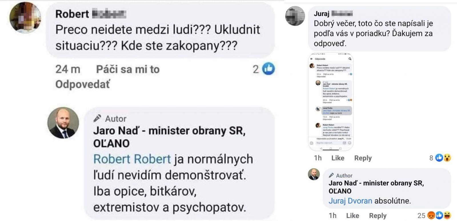 Minister Naď nazval demonštrantov opicami a psychopatmi. Zaútočil naňho Kotleba, ktorý teraz žiada ospravedlnenie a odstúpenie