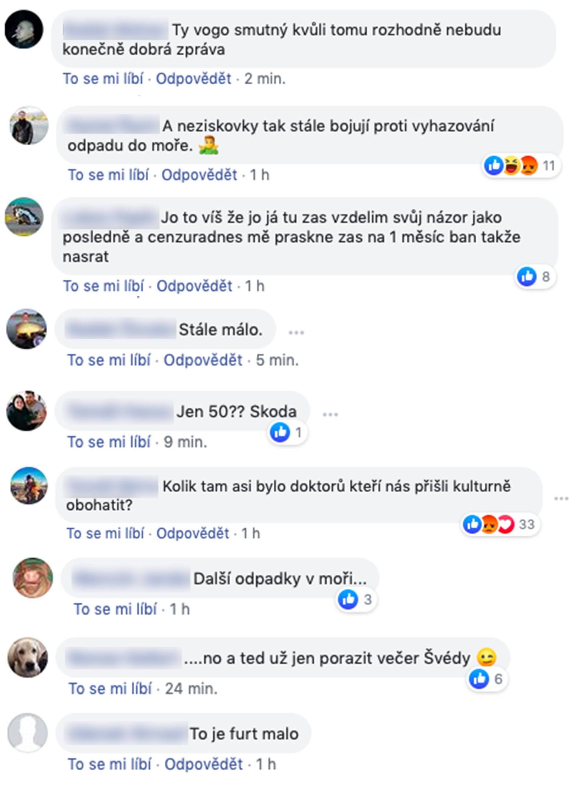 Češi opět oslavují smrt migrantů