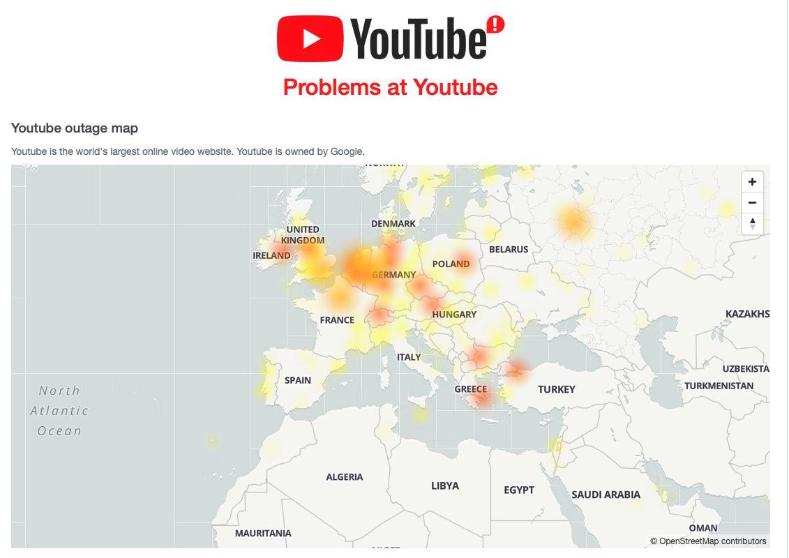 YouTube má masivní výpadek. Problémy má po celé Evropě včetně Česka