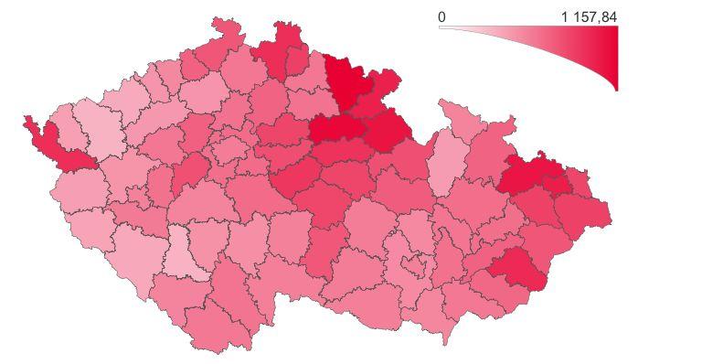 V Česku je kvůli koronaviru 1100 lidí v těžkém stavu. Naočkováno bylo 20 tisíc osob