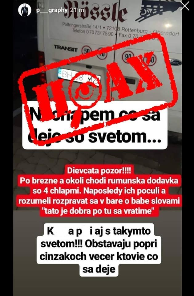 Slováci na sociálnych sieťach opäť šírili hoax, dodávka mala unášať ľudí. Polícia upozorňuje, šírenie poplašných správ je trestné