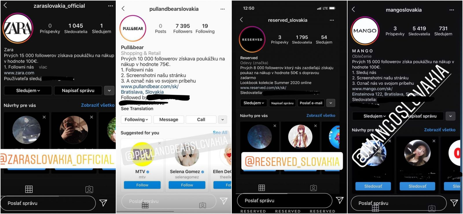 Slováci naleteli na falošné súťaže na Instagrame ponúkajúce poukážky na nákup v Zare či Pull&Bear