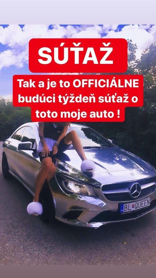 Plačková urobí o svoj legendárny chrómový Mercedes súťaž na Instagrame. Auto za približne 15 000 € môže byť aj tvoje