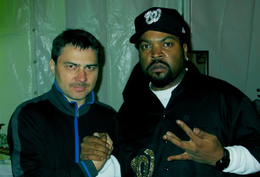 Na snímke David zo Senca a legendárny americký raper Ice Cube