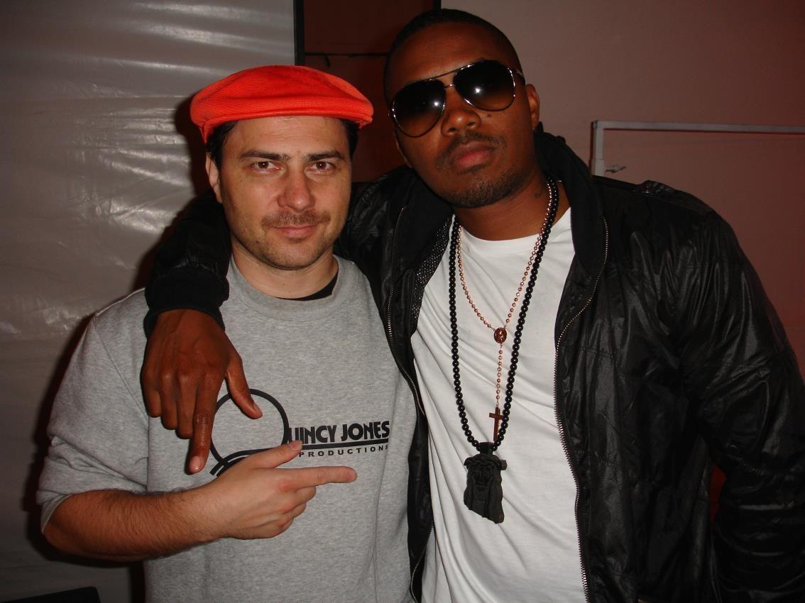 Na snímke David zo Senca a ďalšia legenda amerického rapu – Nas
