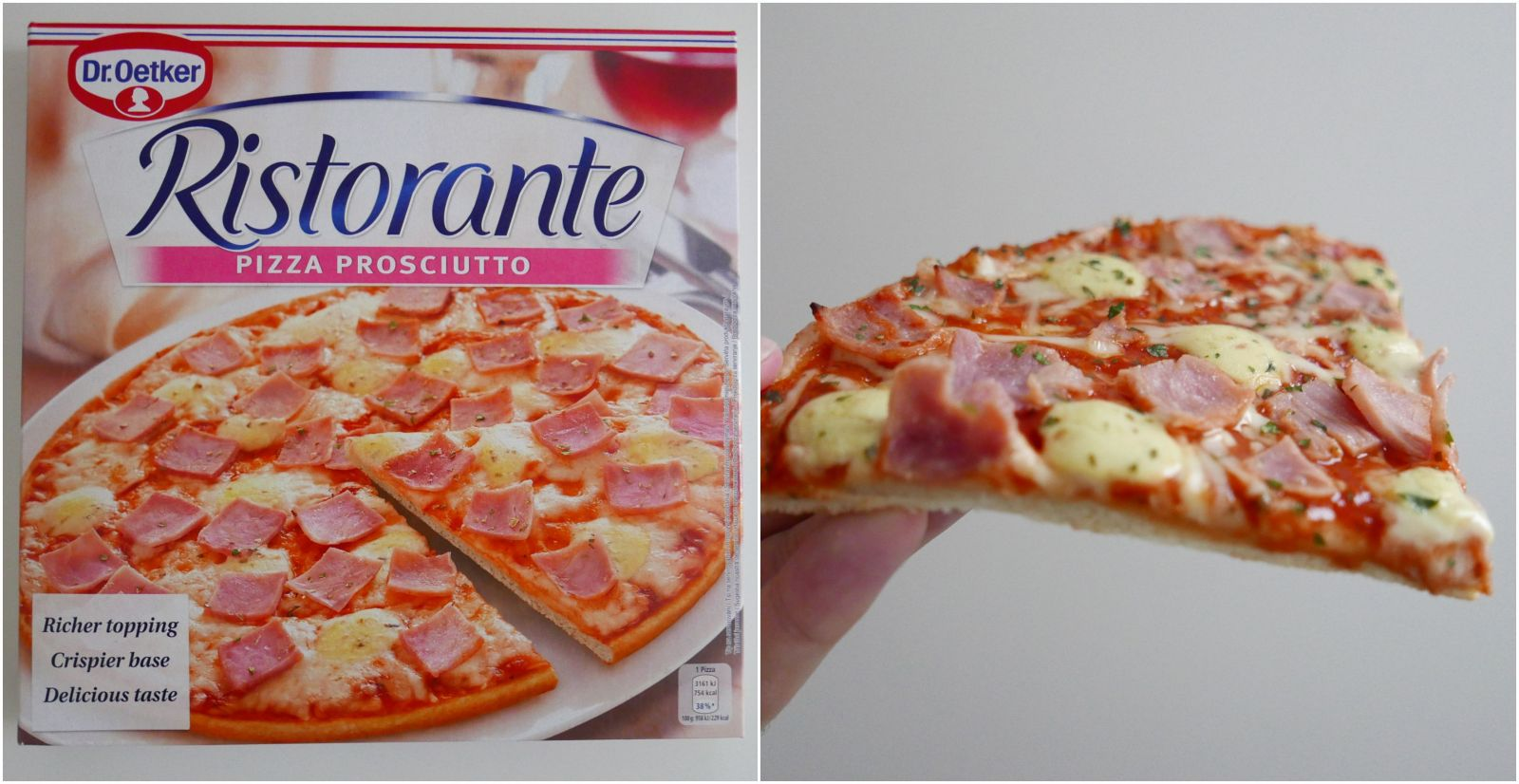 mrazena pizza test