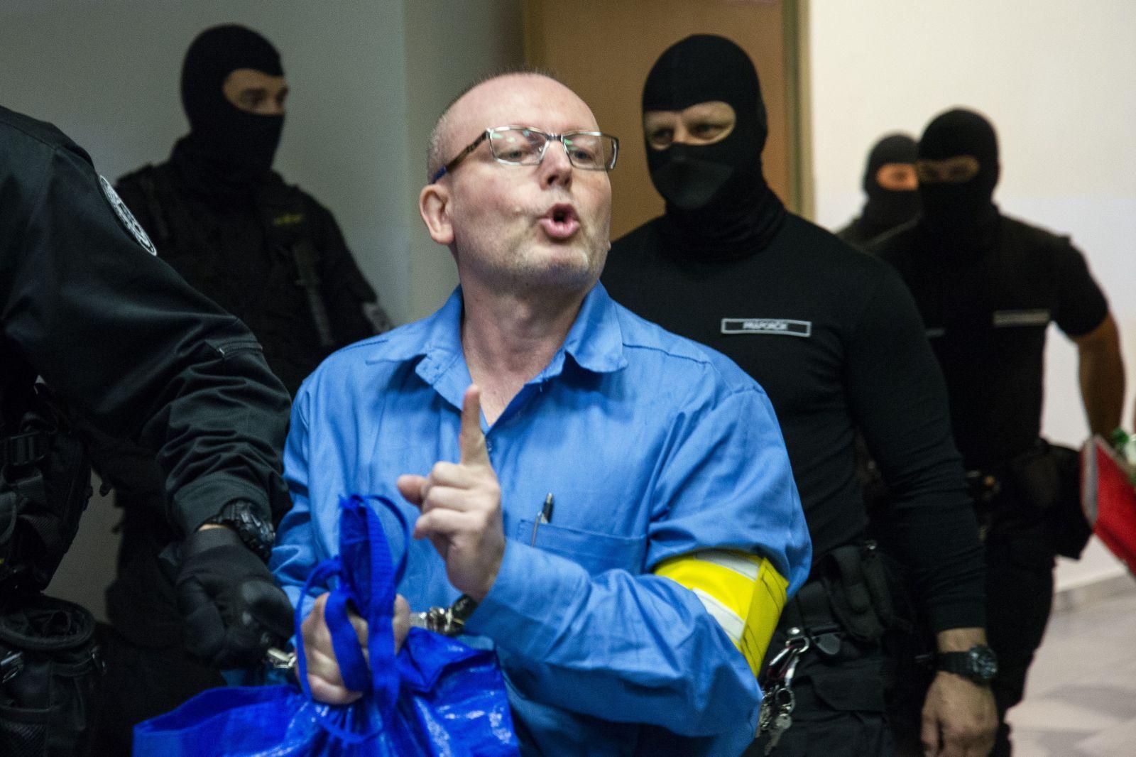 Róbert Lališ na súde z roku 2019, vypovedal v prípade objednávky vraždy Sylvie Volzovej, spoločníčky bývalého riaditeľa TV Markíza Pavla Ruska