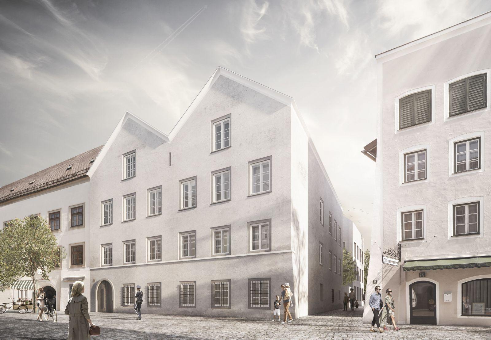 Prerobený rodný dom Adolfa Hitlera