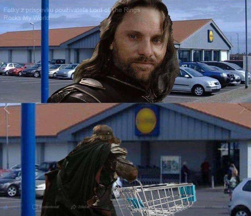 Aragorn ide nakupovať