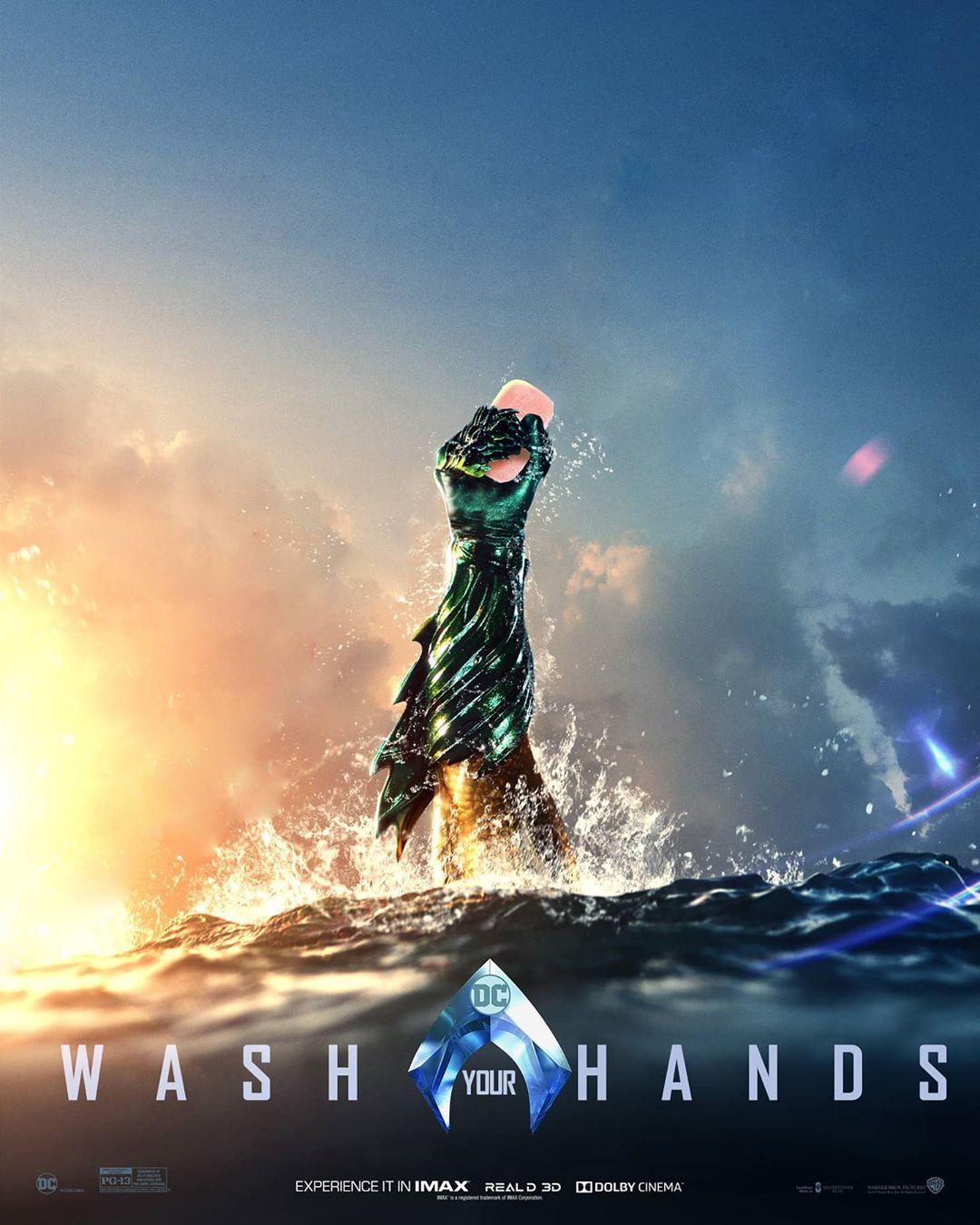 Aquaman odporúča umývanie rúk