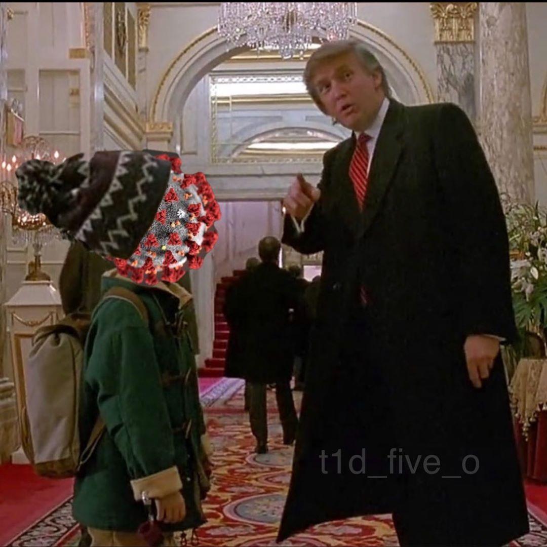 Postoj Donalda Trumpa ku koronavírusu (Sám doma 2: Stratený v New Yorku)