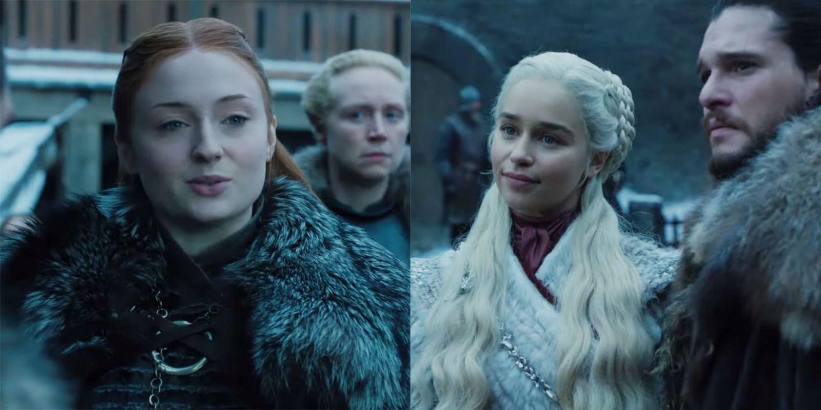 Prvé zábery z poslednej série Game of Thrones ukazujú, že Sansa nevíta Daenerys s veľkým nadšením