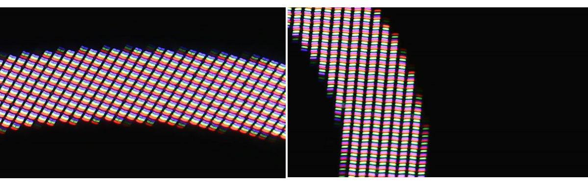 Porovnanie Soft OLED od Fixpremium (vľavo) aoriginálneho displeja (vpravo)