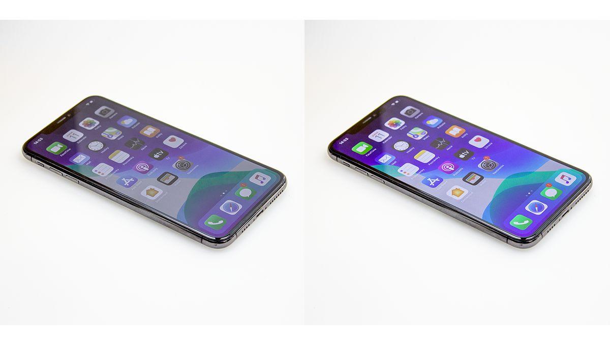 Porovnanie zobrazovacích schopností: TFT LCD (vľavo) už na prvý pohľad zaostáva za Soft OLED (vpravo)
