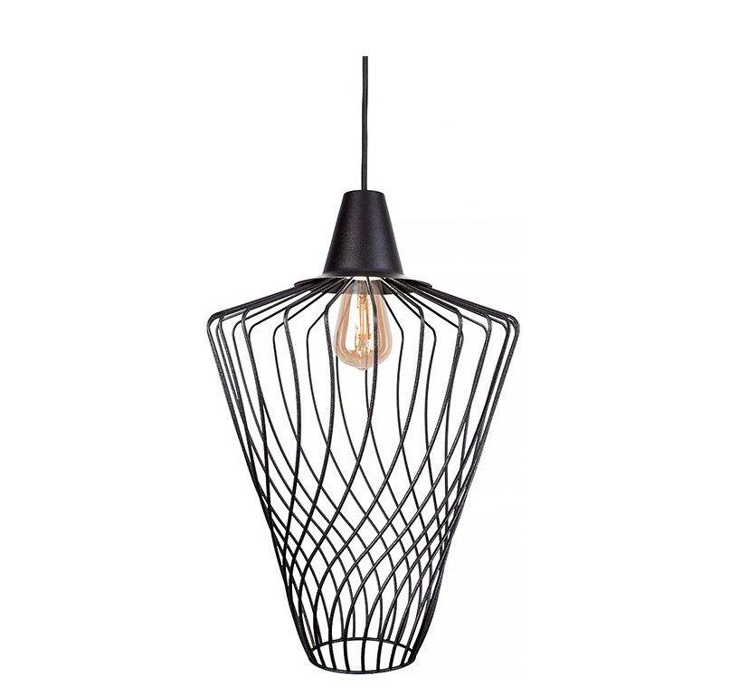 Moderná priemyselná lampa Wave Black L