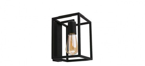 Nástenná lampa priemyselného štýlu Crate Black