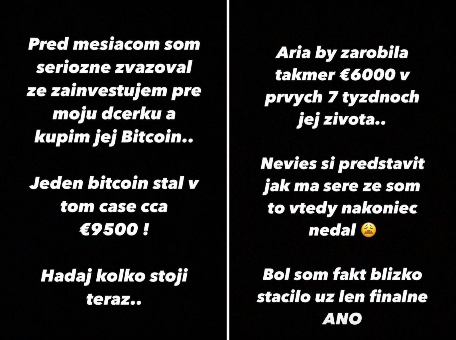 Majk Spirit chcel svojej dcére kúpiť pred mesiacom bitcoin: Dnes ľutuje, že tak nespravil