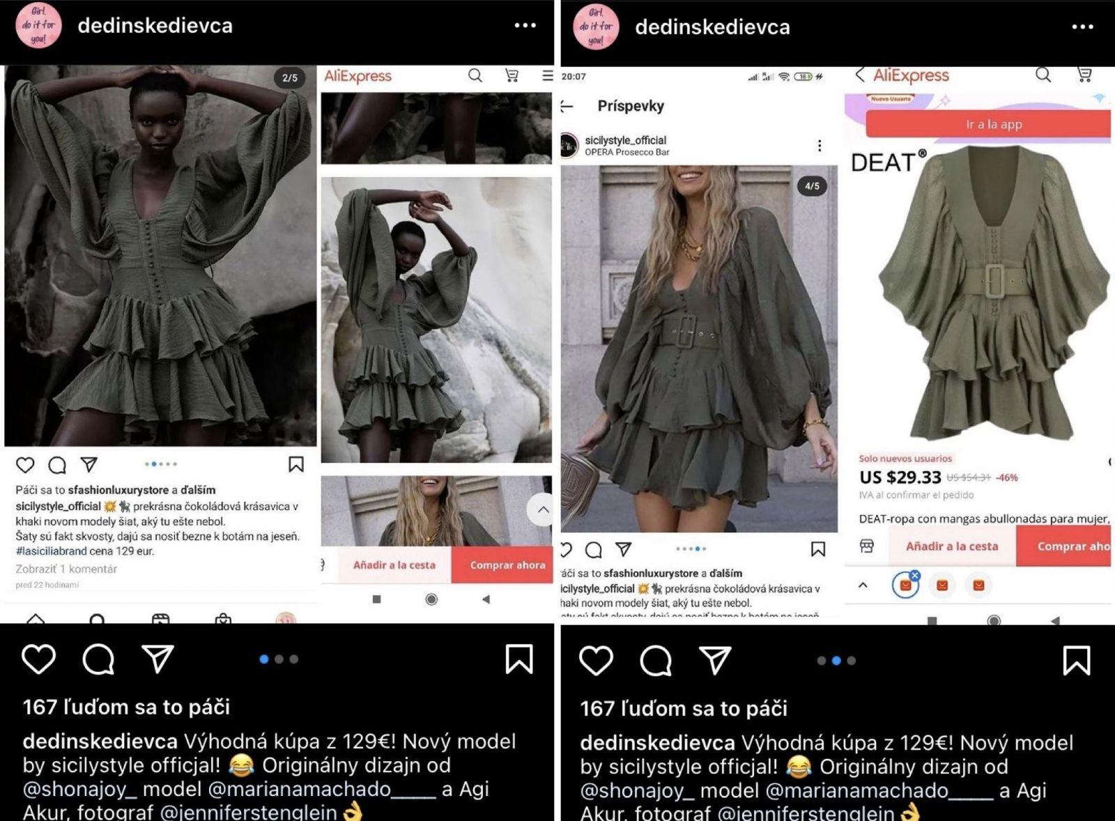 Predražené oblečenie, ktoré kúpiš na Aliexpresse za pár eur. Nový profil na Instagrame poukazuje na možné podvody u influencerov