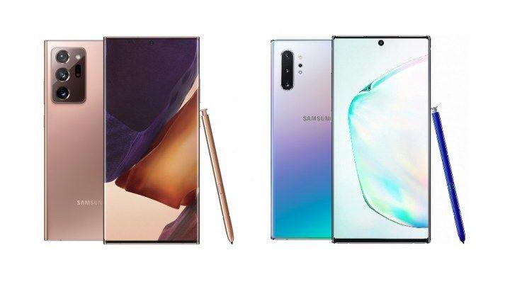 Rozdielov medzi Galaxy Note 20 Ultra a Note 10+ je menej