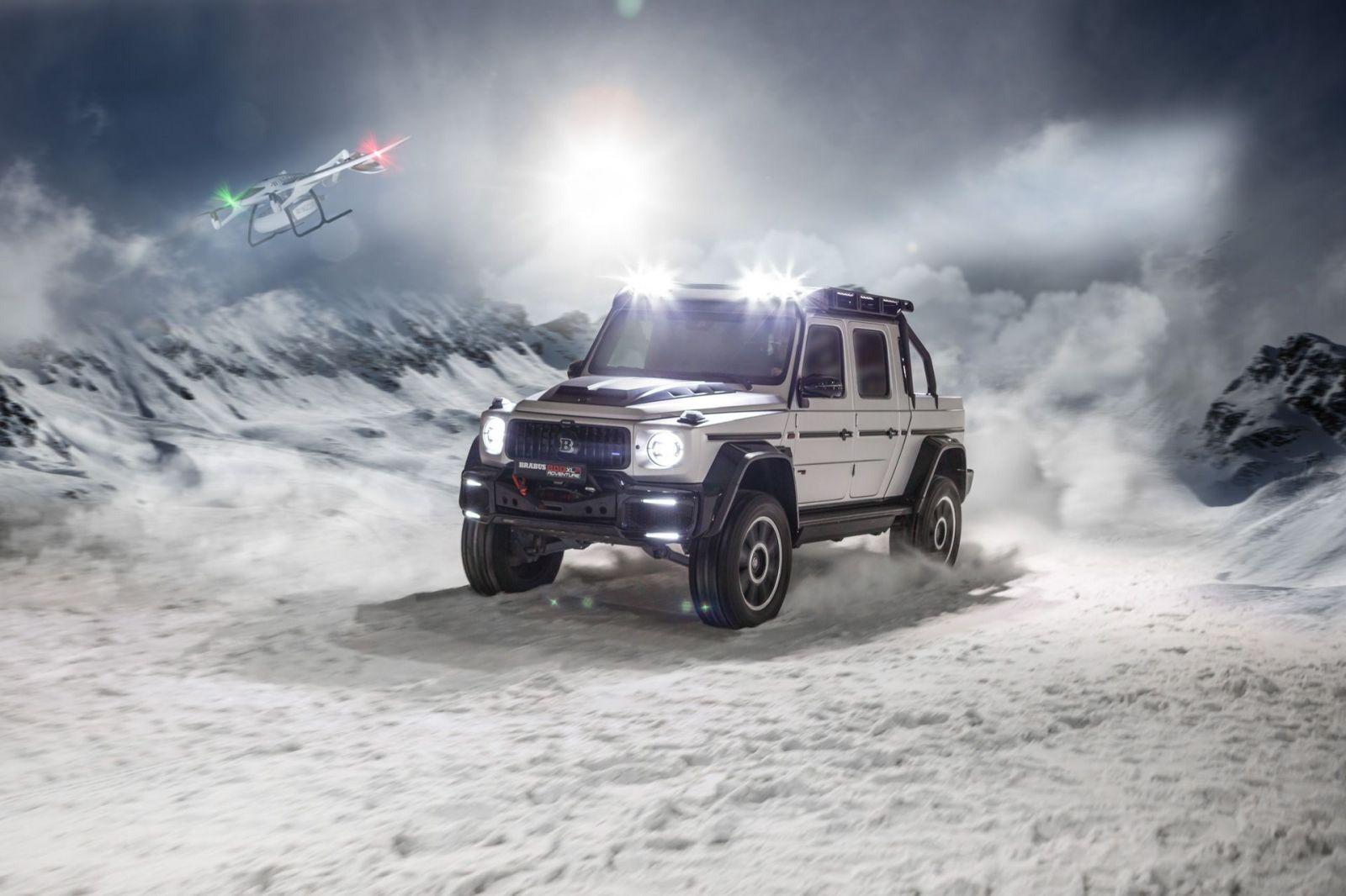 Brabus Mercedes-Benz G63 beštia s dronom - Brabus 800 Adventure XLP
