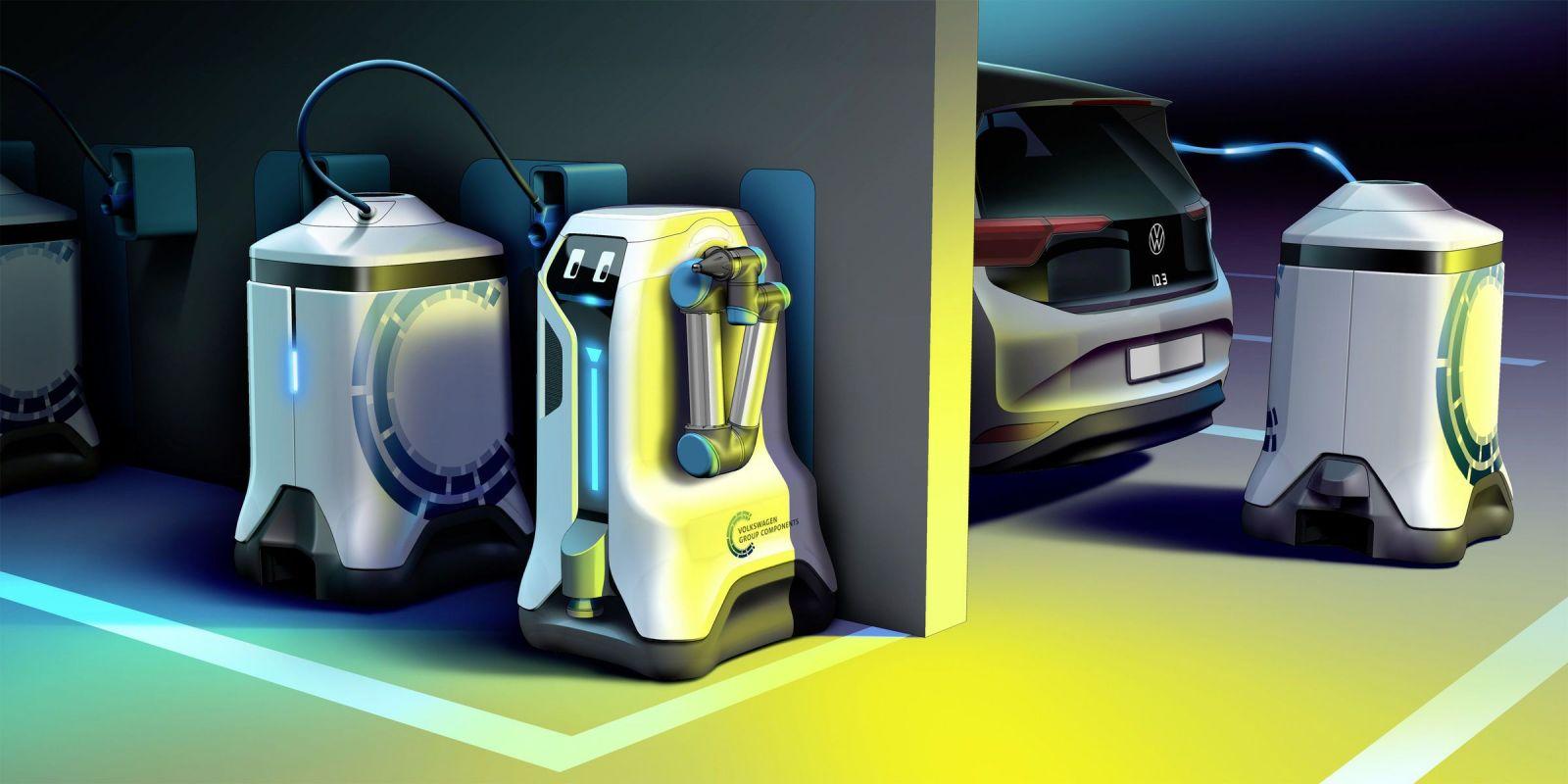Volkswagen predstavil robota, ktorý tvoj elektromobil dobije kdekoľvek. Zrejme zostane len vo forme vízie