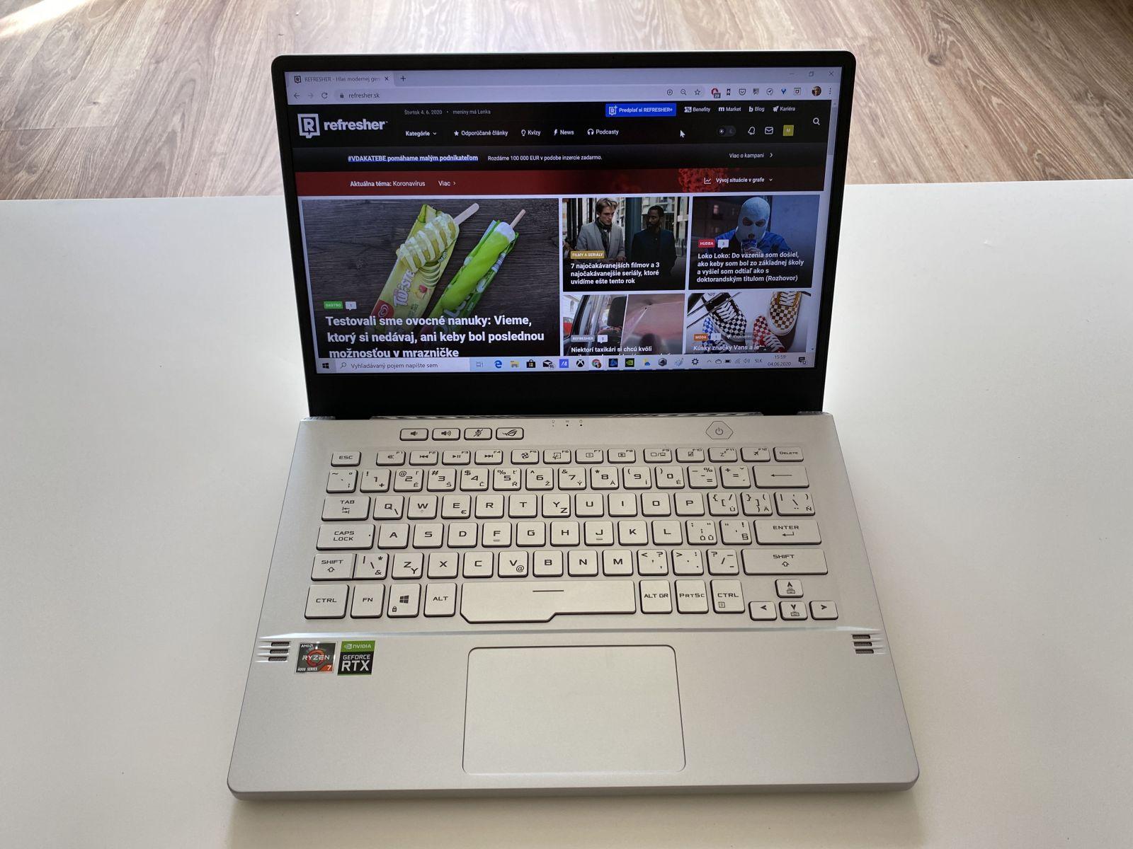 Asus ROG Zephyrus G14 - ako vyzerá najvýkonnejší 14-palcový notebook na svete? (Recenzia)
