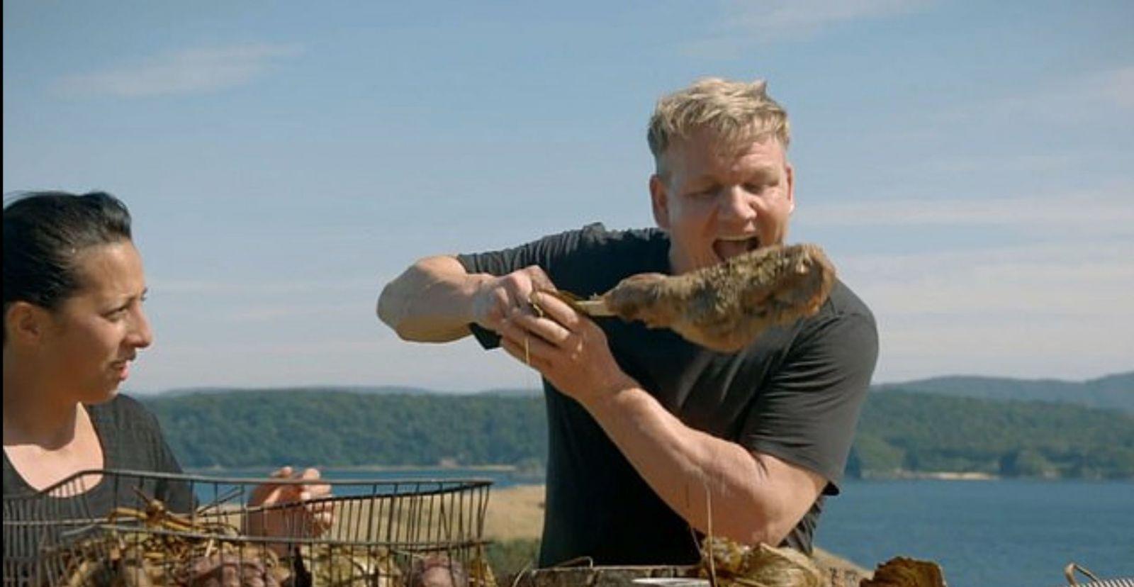 Gordon Ramsay si pohneval ochranárov, keď vo svojej novej TV šou upiekol kozu, ktorú sám zastrelil v divočine