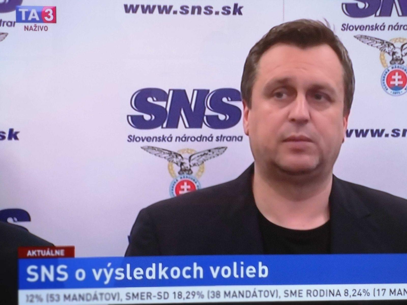 Andrej Danko na tlačovej besede.