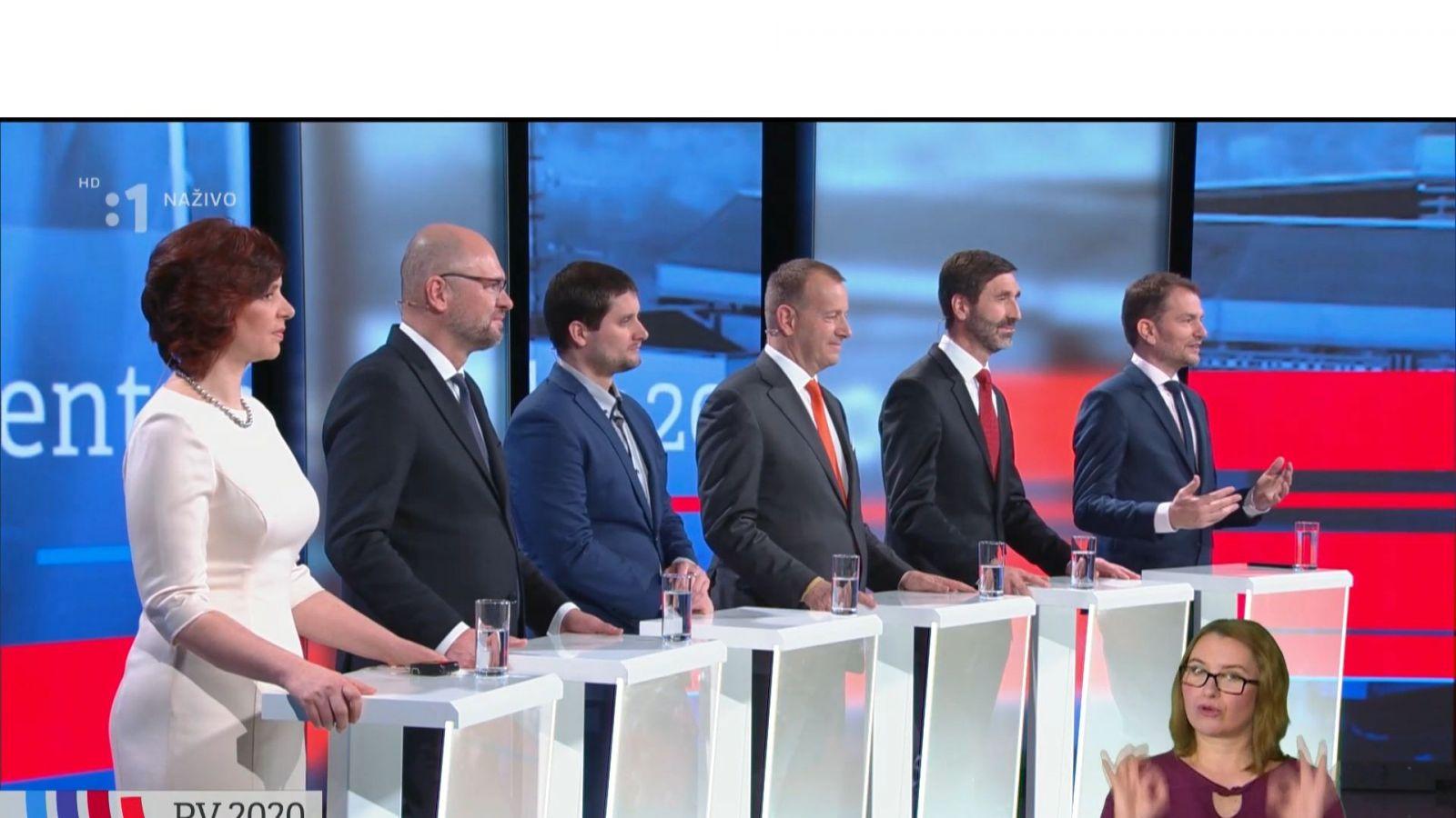 Predvolebná debata v RTVS