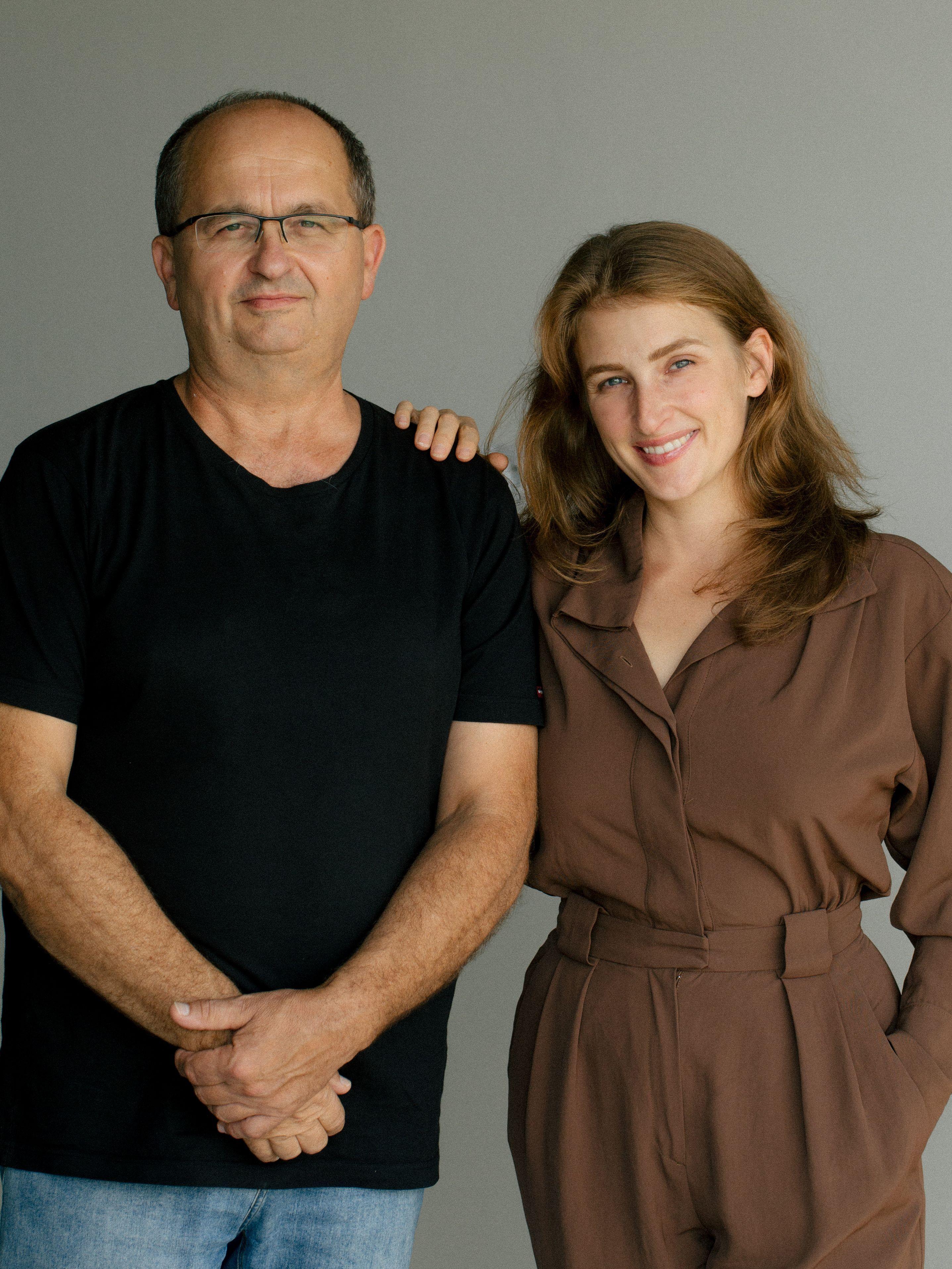 Otec Jaroslav Stráňavský spolu s jeho dcérou Dominikou Donigou