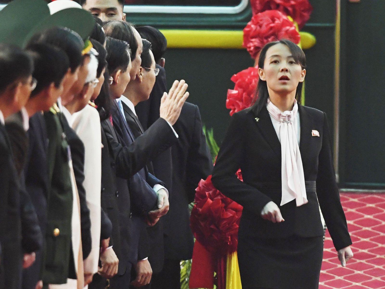 Kim Jo-džong po príchode do Vietnamu, kde šla s bratom na druhý samit s americkým prezidentom Donaldom Trumpom v roku 2019.