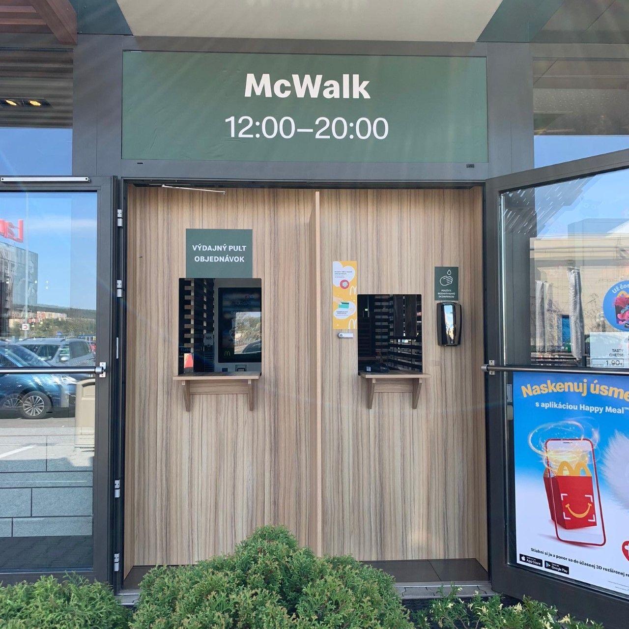 McDonald otvára popri McDrive aj McWalk