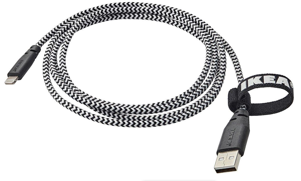 IKEA začala prodávat certifikovaný Lightning kabel. Stojí 199 Kč