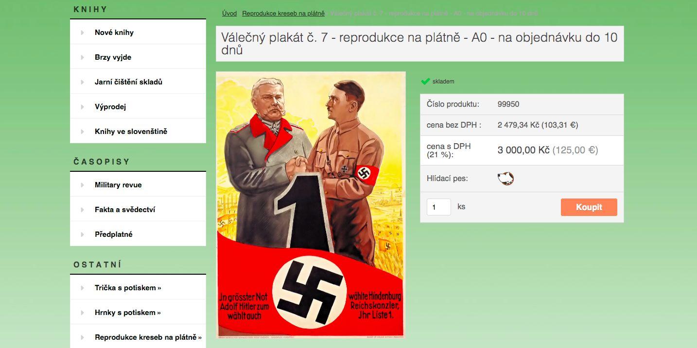 Český e-shop prodává velikonoční hrníčky s motivem Adolfa Hitlera