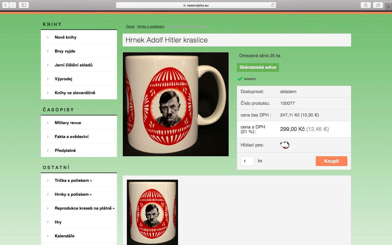 Český e-shop prodává velikonoční hrníčky s motivem Hitlera i Stalina. Je to taková recese, obhajuje se majitel