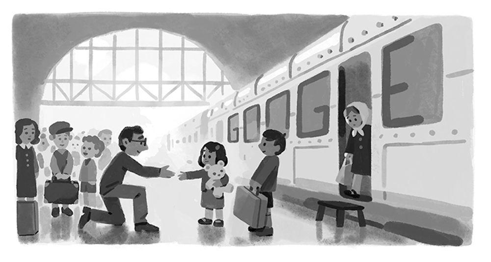 Dnešní Google Doodle odkazuje k Česku. Nicholas Winton v Praze zachránil stovky dětí od jisté smrti
