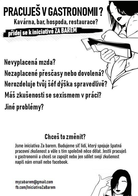 """""""Sexismus se často chápe jako součást této práce, což je otřesné."""" Česká iniciativa chce zlepšit podmínky servírek a číšníků"""