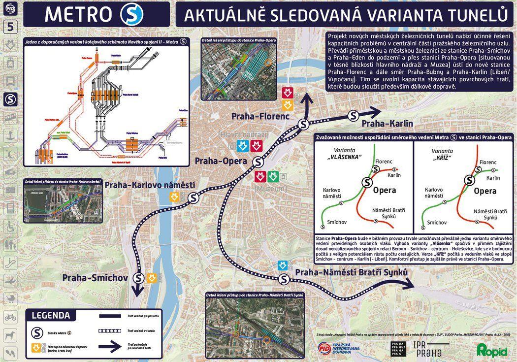 Pod Prahou vyhloubí rozměrné tunely propojující linky metra. Jezdit jimi budou dvoupatrové vlaky pro 800 cestujících