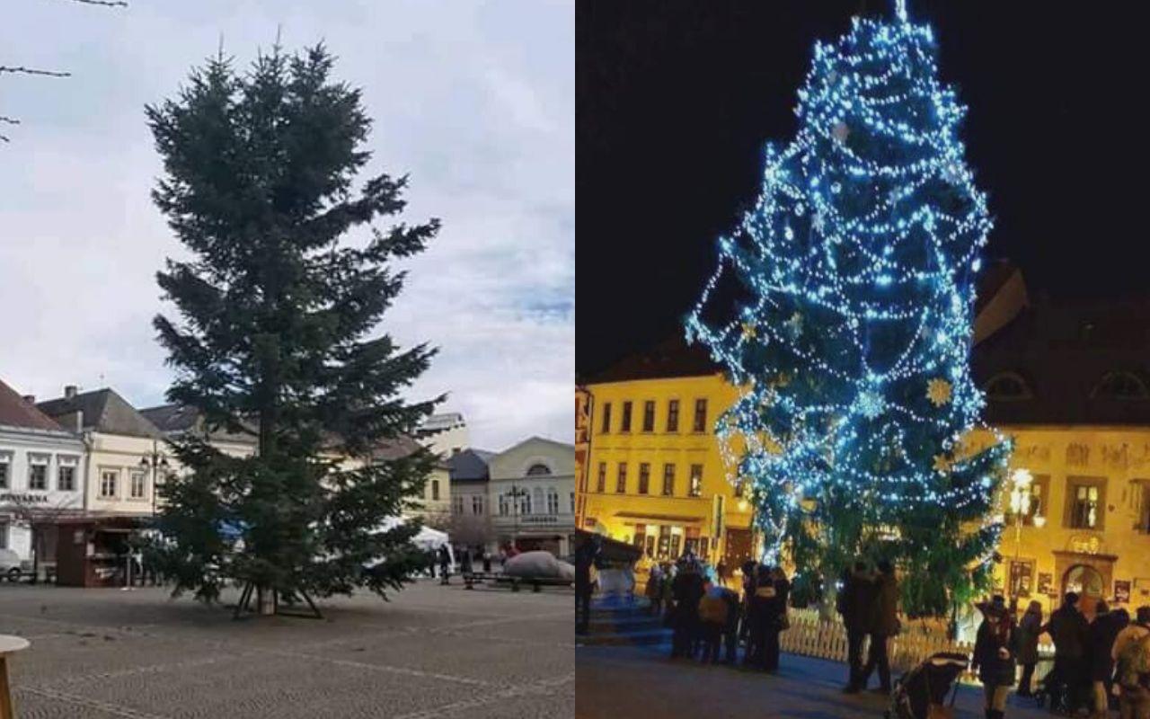 Nejošklivější vánoční stromek roku má Bruntál. Místní se mu smějí, starostu vyděsil