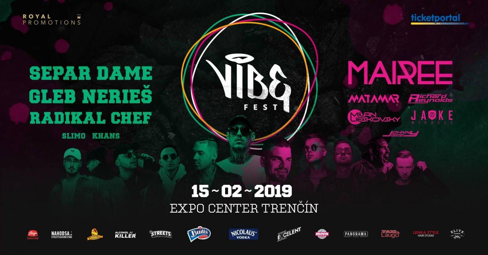 Zimný VIBE Fest spája rapový a elektronický žáner. Vystúpia DMS, Nerieš či Gleb ale aj Mairee a Milan Lieskovský