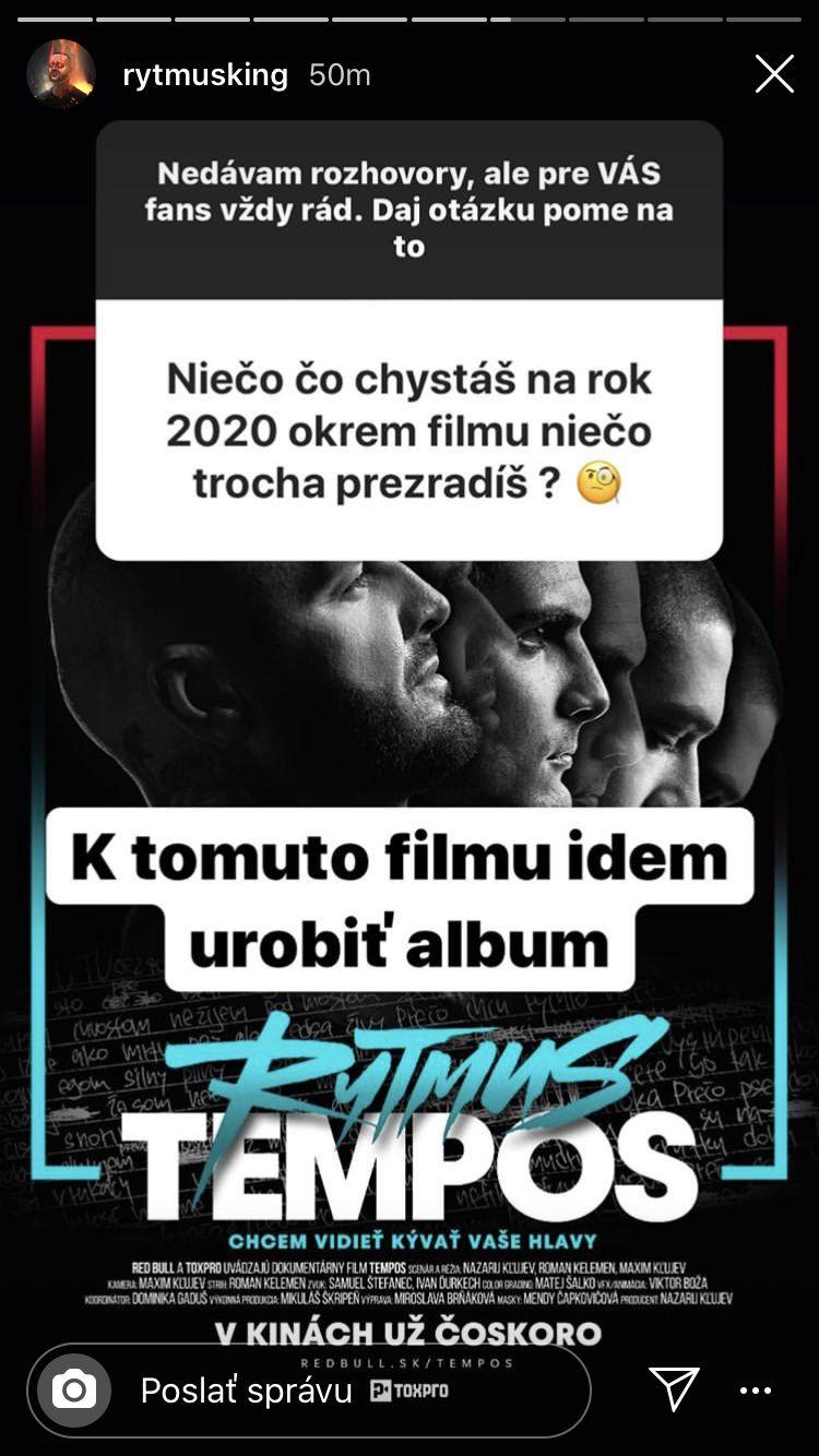 Rytmus avizuje vydanie albumu na rok 2020