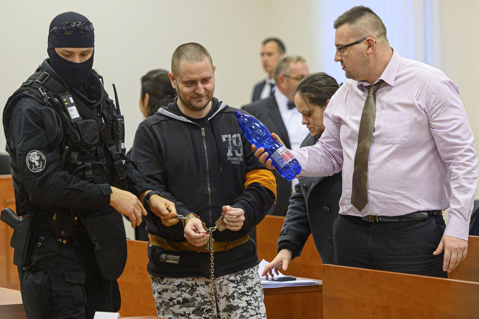 Senát Špecializovaného trestného súdu v Pezinku otvoril hlavné pojednávanie v kauze vraždy novinára Jána Kuciaka a jeho snúbenice Martiny Kušnírovej v Pezinku v pondelok 13. januára 2020. Na snímke obžalovaný Miroslav Marček.