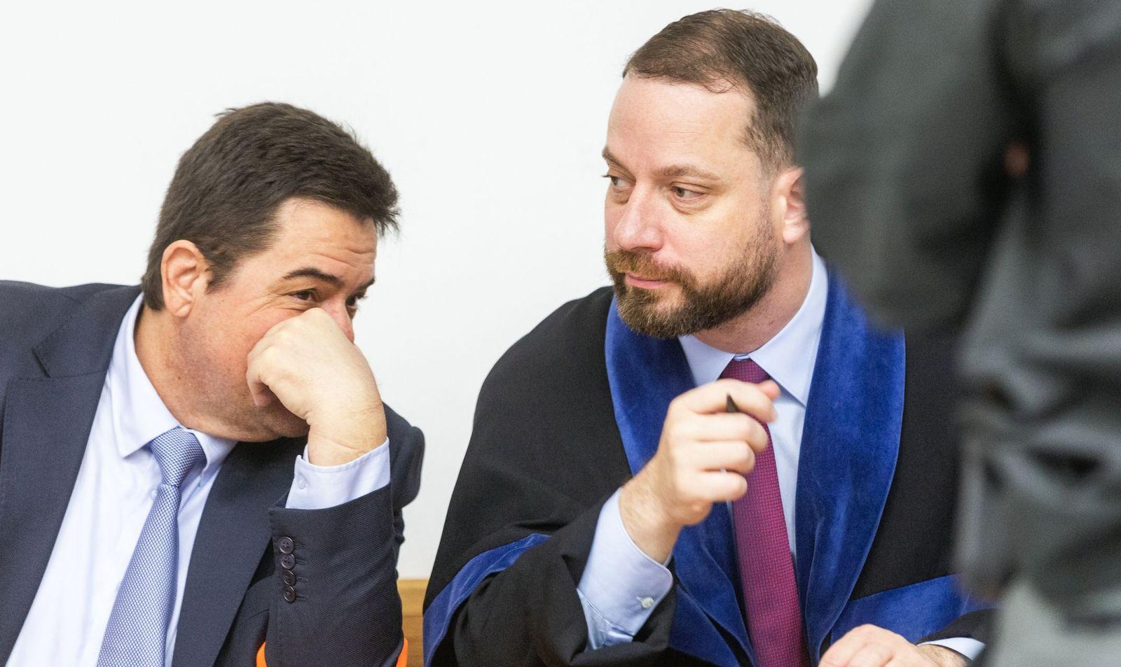 Marian Kočner a jeho právny zástupca v prípade vraždy Jána a Martiny Marek Para.