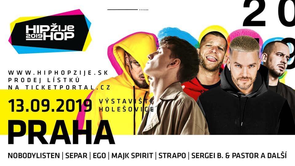 Separ, NobodyListen, Ego aj Sergei Barracuda ovládnu Hip Hop Žije 2019 v Prahe
