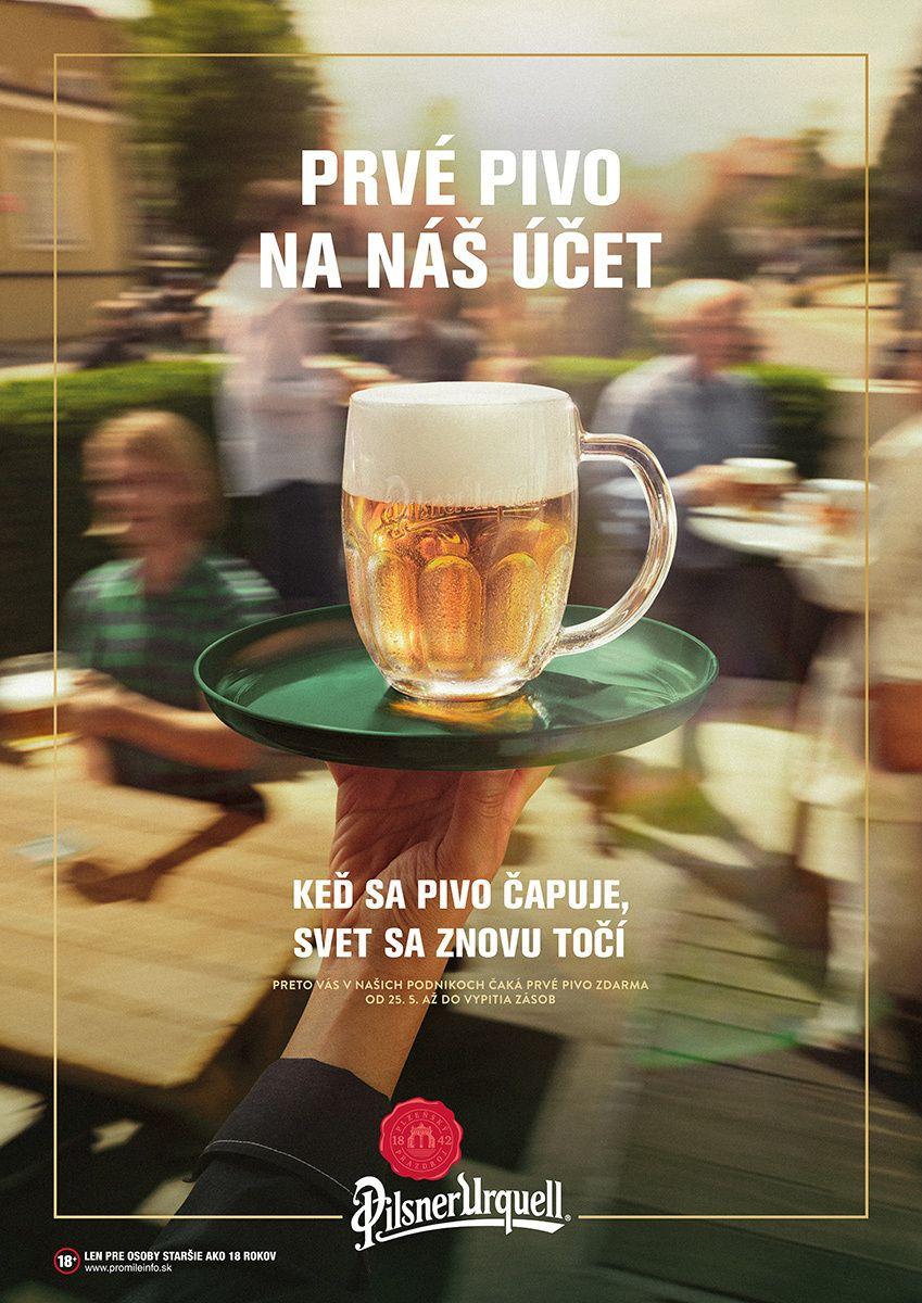 Prvé pivo na ich účet: Pilsner Urquell podporí slovenské podniky pri znovuotváraní najväčšou akciou v histórii pivovaru