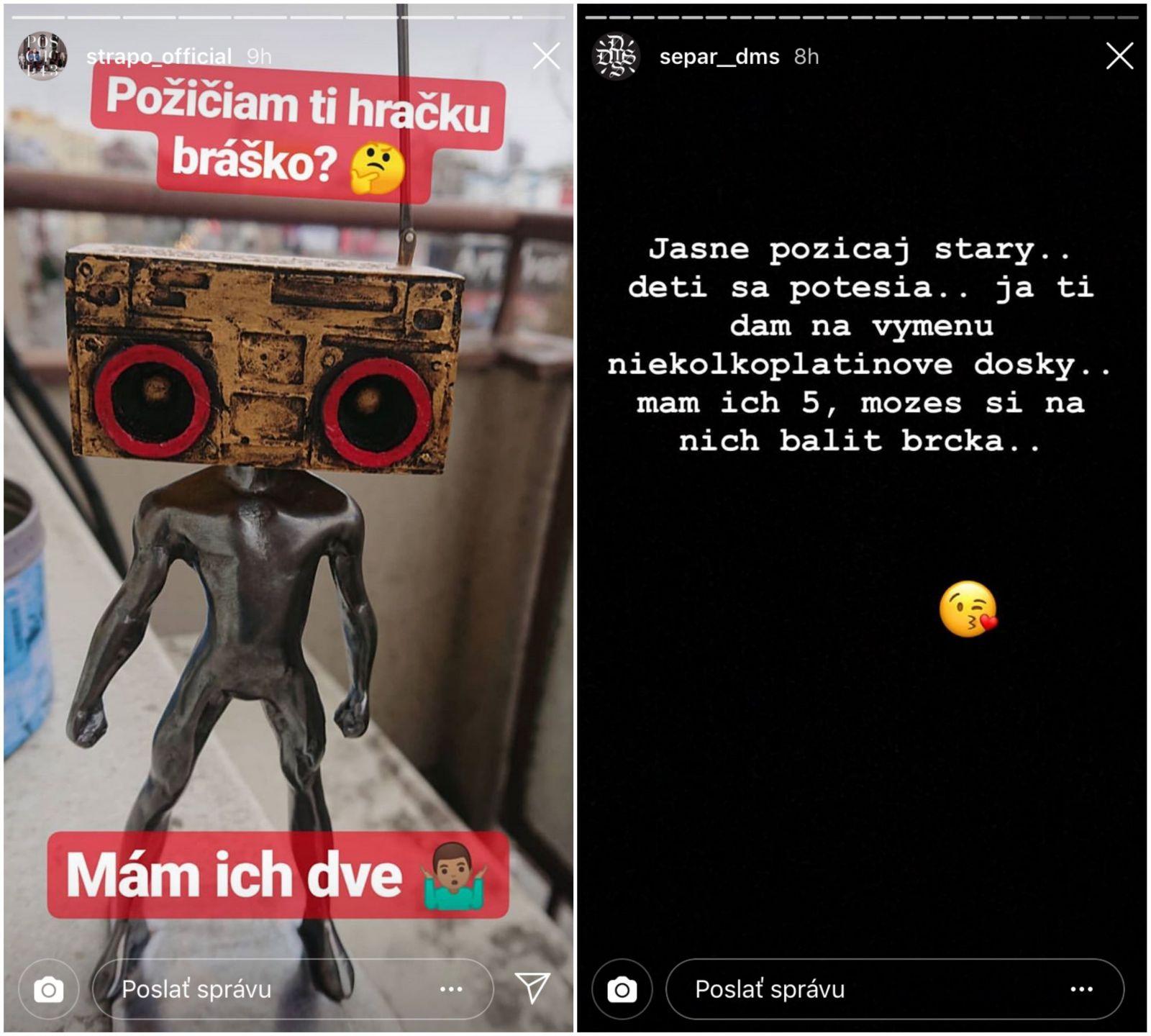 Separ a Strapo sa pochytili na Instagrame. Čo sa vlastne stalo a kto by mal odovzdávať hudobné ceny?