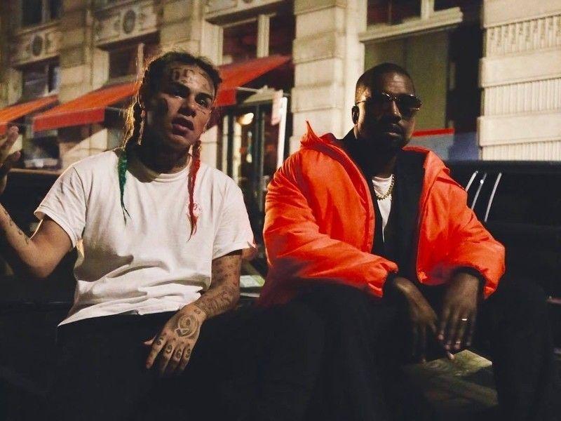 6ix9ine a Kanye West pri natáčaní videoklipu, ktorý nikdy nevyšiel.