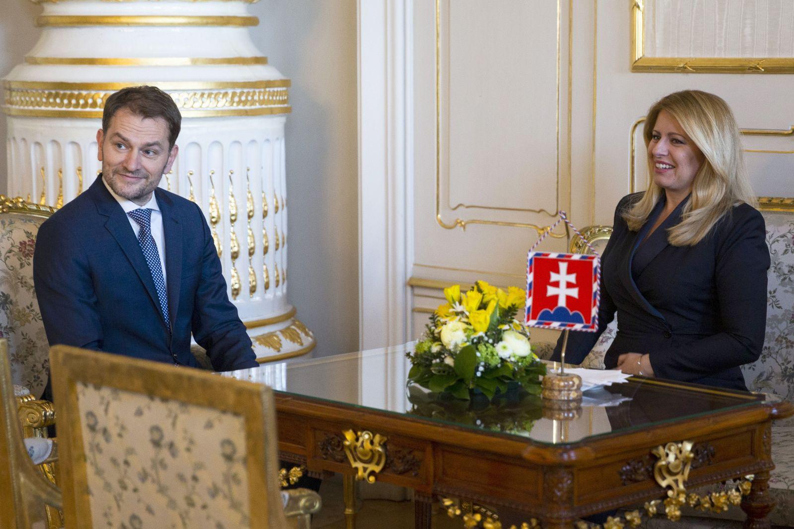 Prezidentka Čaputová a Igor Matovič: