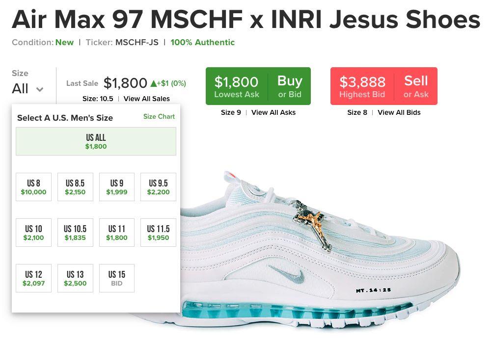 Tenisky Nike Jesus Shoes obsahujúce svätenú vodu sa vypredali za minútu. Majitelia na nich zarábajú tisíce eur