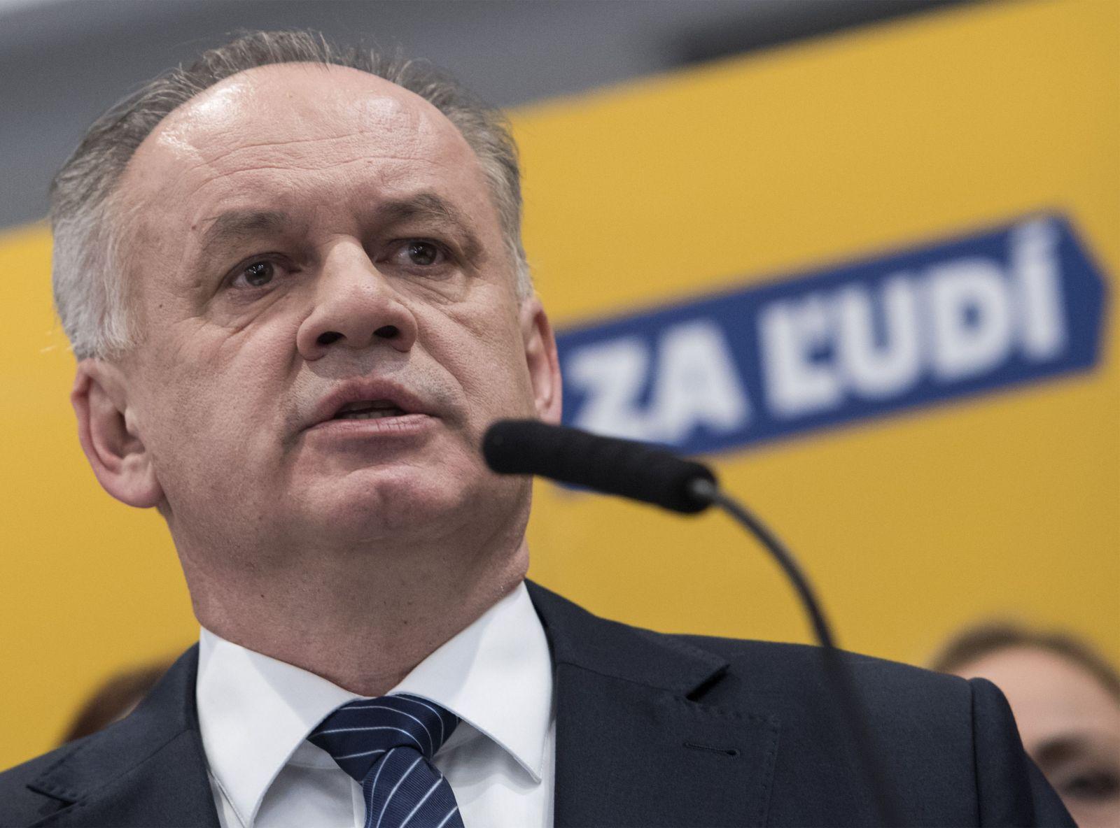 Na snímke predseda strany Za ľudí Andrej Kiska počas tlačovej konferencie po predsedníctve strany 5. marca 2020 v Bratislave.